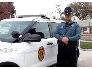 Kansas Highway Patrol Master Trooper James Robinson patrols central Kansas and helps local law enforcement.